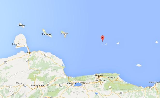 Mappa_Aruba_LosRoques_Venezuela